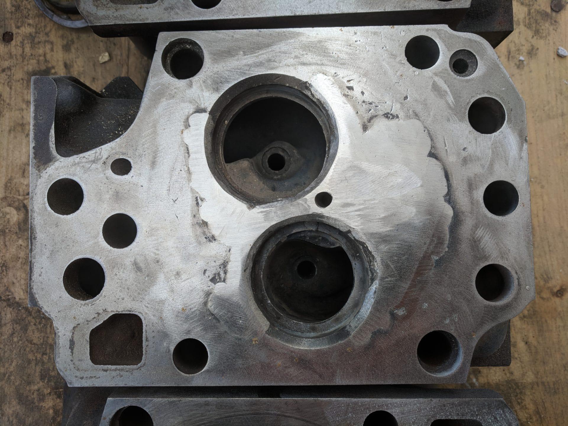 Liebherr crane cylinder head weld repair